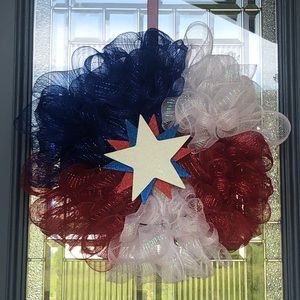 Other - Handmade 4th of July Wreath